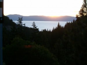 Lake Tahoe on way to resort