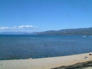 A public beach at Lake Tahoe