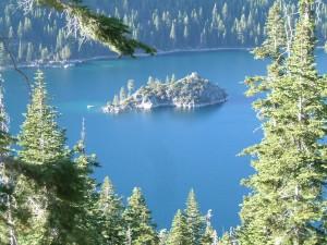 The island in The Emerald Cove